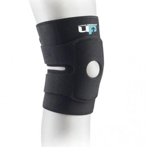 Stabilizator kolana z otworem na rzepkę, otwarty